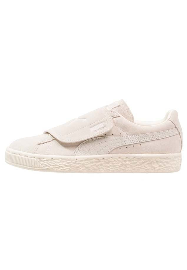 Puma SUEDE STRAP COLOR BLOCKED Tenisówki i Trampki whisper white