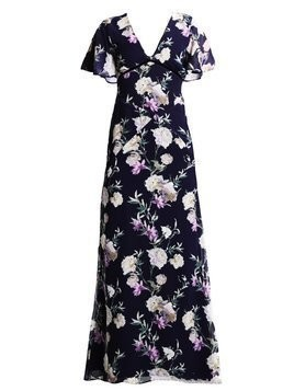 Hope & Ivy Petite NARVY FLORAL DRESS Długa sukienka dark blue