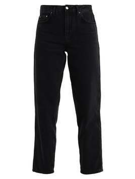 Topshop BOUTIQUE BOY ROLLED Jeansy Relaxed fit black