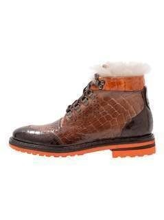 Melvin & Hamilton AMELIE 23 Ankle boot dark brown/orange