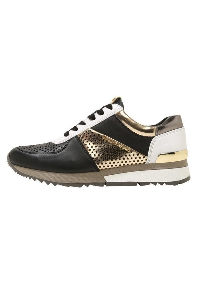MICHAEL Michael Kors ALLIE TRAINER Tenisówki i Trampki black/pale gold