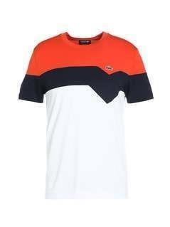 Lacoste Sport Tshirt z nadrukiem mexico red/navy blue/white