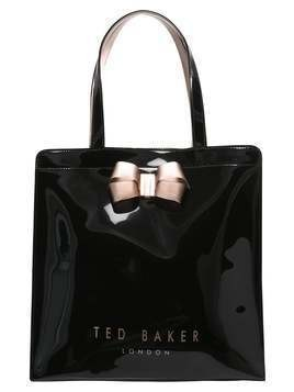 Ted Baker VALLCON BOW DETAIL LARGE ICON BAG Torba na zakupy black