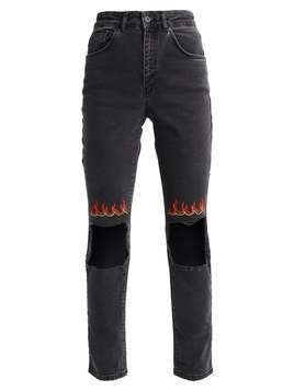 The Ragged Priest FLAME Jeansy Slim fit black