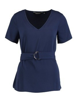Dorothy Perkins CIRCLE BELTED Bluzka navy