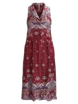 Free People COME SEE ABOUT ME MAXI Kamizelka wine