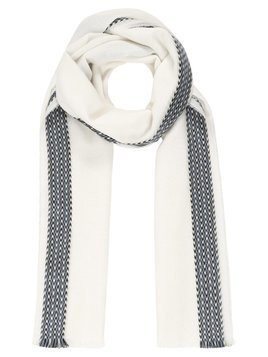 Johnstons Cashmere TIPPED SCARF Szal white with fancy stripe