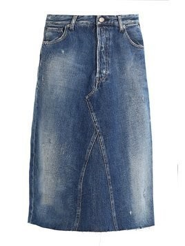 Replay SKIRT Spódnica jeansowa blue denim