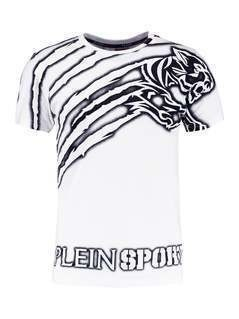 Plein Sport WILLIAMS Tshirt z nadrukiem white