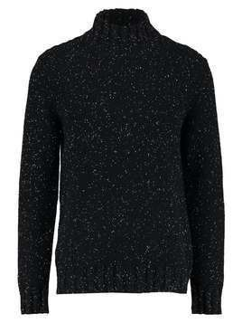Selected Homme SHNJANUS HIGH NECK Sweter caviar/egret naps