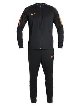Nike Performance DRY SQAD SUIT Dres black/black/cone/cone
