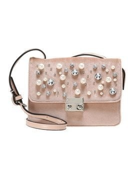Missguided PEARL DETAIL CROSS BODY BAG Torba na ramię pink