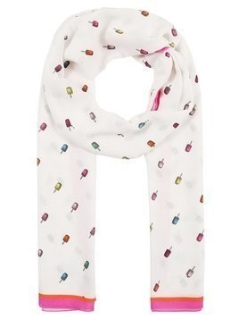 PS by Paul Smith WOMEN SCARF LOLLIPOPS Szal white