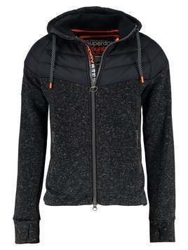 Superdry STORM PANEL HYBRID Bluza rozpinana gritty black