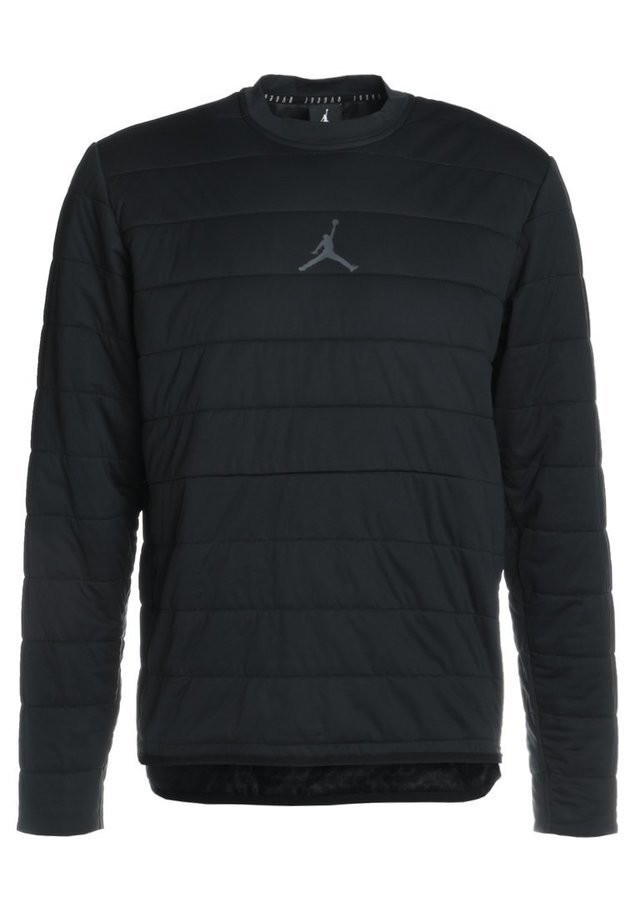 Jordan TECH QUILTED CREW Bluza black/anthracite