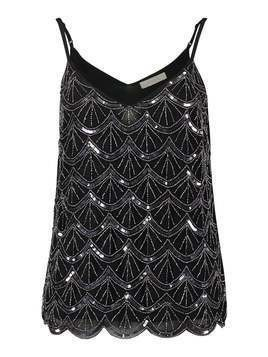 Oasis DECO EMBELLISHED CAMI Top multi black