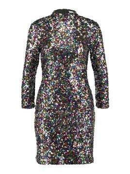 Warehouse RAINBOW SEQUIN DRESS Sukienka koktajlowa multicoloured