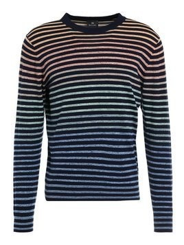 PS by Paul Smith MENS CREW NECK Sweter dark blue
