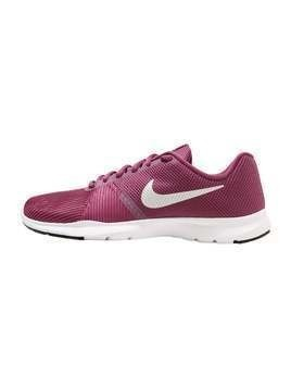 Nike Performance FLEX BIJOUX Obuwie treningowe tea berry/metallic silver/black