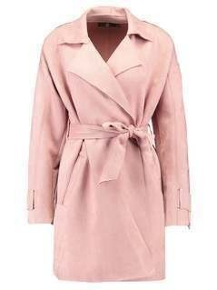Missguided BONDED TRENCH WITH ZIP DETAIL Prochowiec pink