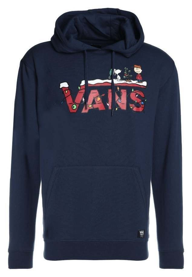 Vans PEANUTS HOLIDAY  Bluza z kapturem dress blues