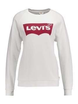 Levi's® RELAXED GRAPHIC CREW Bluza better batwing white