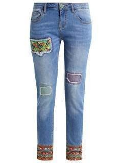 Desigual Jeansy Slim fit medium light