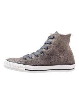 Converse CHUCK TAYLOR ALL STAR CRACKLED LEATHER HI Tenisówki i Trampki wysokie sharkskin/black/white