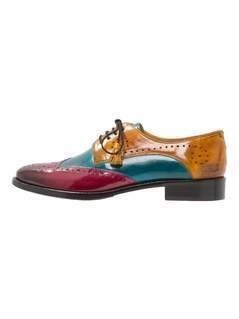 Melvin & Hamilton BETTY 3 Oksfordki dark pink/ice blue/yellow