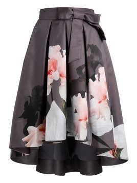 Ted Baker THALI CHATSWORTH FULL MIDI SKIRT Spódnica trapezowa grey