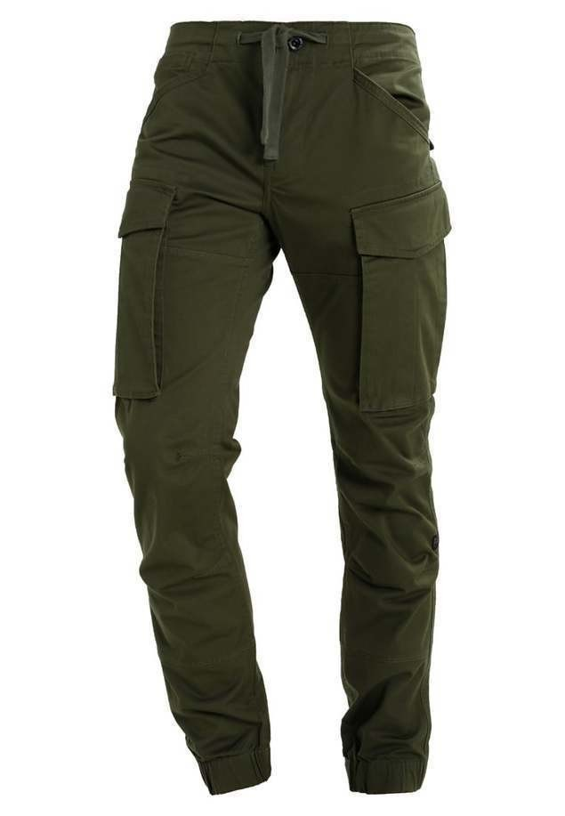 GStar ROVIC SLIM CUFFED Bojówki dark bronze green