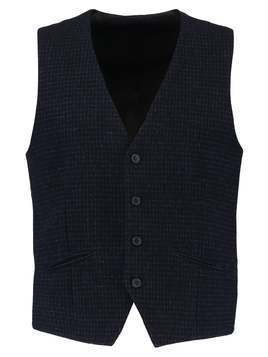 Selected Homme SHDONEMYLO IVES CHECK  Kamizelka garniturowa dark navy