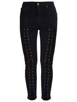 Topshop JAMIE Jeansy Slim Fit black