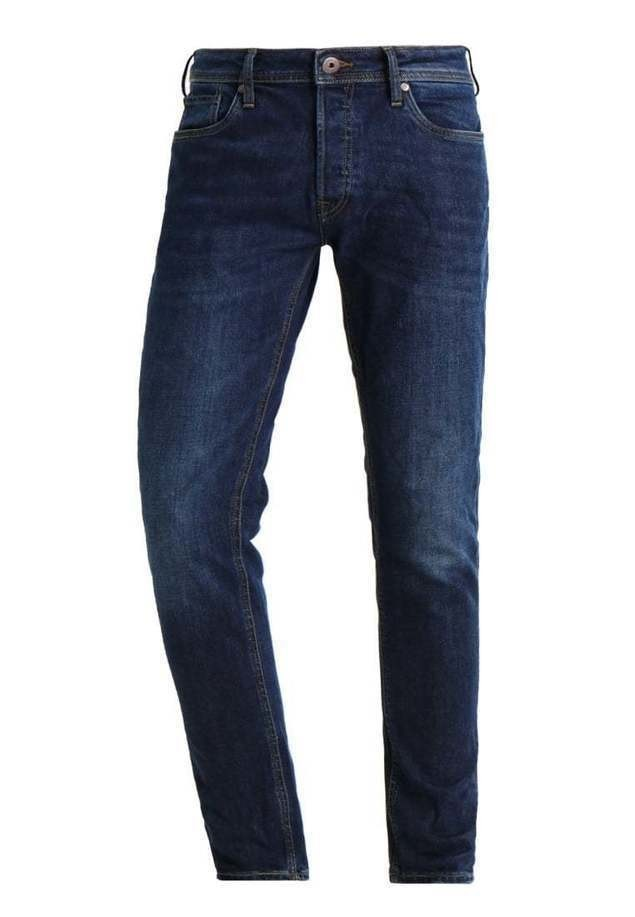 Jack & Jones JJITIM JJORIGINAL Jeansy Slim Fit blue denim