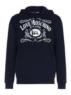 Love Moschino Bluza z kapturem black