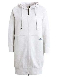 adidas Performance OFFPITCH Bluza rozpinana mid grey heather