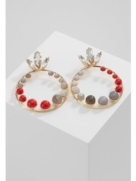 Anton Heunis CRYSTAL AND AGATE HOOPEARRING Kolczyki red/grey