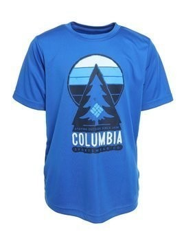 Columbia ALWAYS OUTSIDESHORT SLEEVE SHIRT Tshirt z nadrukiem super blue/tree graphic
