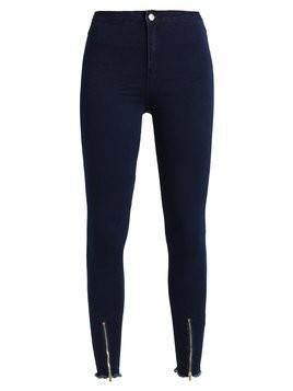Missguided VICE HIGH WAISTED ZIP FRONT Jeans Skinny Fit black
