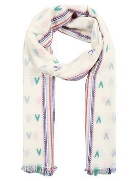 CLOSED SCARF HEARTS Szal ivory