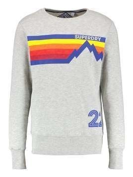 Superdry MOUNTAIN LINE CREW NECK Bluza winter stone grindle