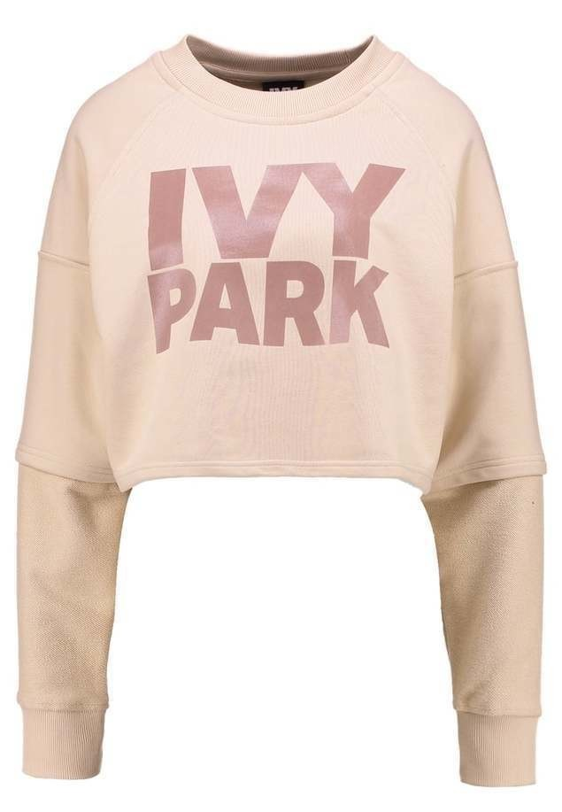 Ivy Park WASHED LOGO CROPPED  Bluza dusty pink