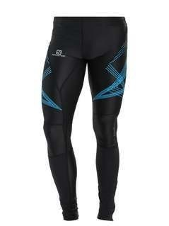 Salomon INTENSITY Legginsy black/hawaiian
