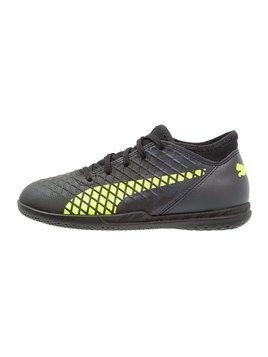 Puma FUTURE 18.4 IT Halówki black/fizzy yellow/asphalt