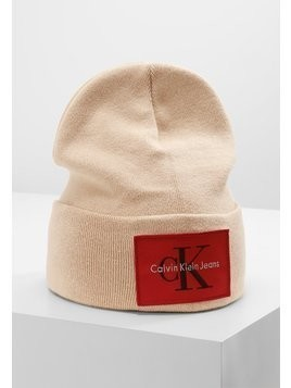 Calvin Klein Jeans RE ISSUE BEANIE  Czapka khaki