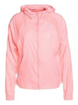 Puma EXPLOSIVE RUN HOODY Kurtka do biegania soft fluo peach