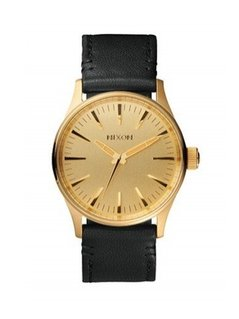 Nixon - Zegarek Sentry 38 Leather Gold/Black