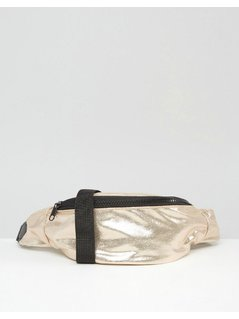 ASOS LIFESTYLE Soft Metallic Bum Bag - Gold