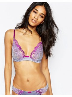 Gossard VIP Lustful Deep V Bra - Purple