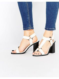 Truffle Collection Heeled Sandals - White